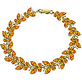 QP Jewellers 8.5in 16.50ct Citrine Butterfly Bracelet in 14K Gold