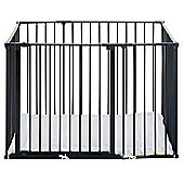BabyDan Square Park-a-Kid Play Pen Black with Urban Mat