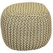 Kaikoo Chunky Knit Bean Bag Cube, Sage