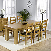 Mark Harris Furniture Barcelona Solid Oak Dining Table with Valencia Chairs