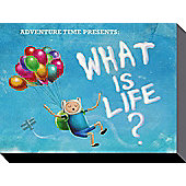Adventure Time Finn What Is Life? Canvas Print