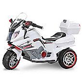 Duplay 12v Kids Electric Mini Motorbike - White