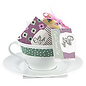 Cosy Days Ceramic Cup & Saucer Set