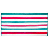 Tesco Bright stripe beach towel