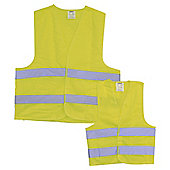 Rolson Hi Vis Vest 2 Pack Adult & Child 60410
