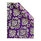Linea High Society Purple Demask Wrapping Paper