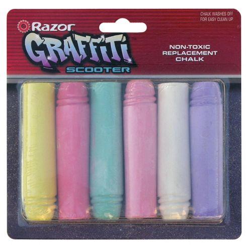 Razor Graffiti Replacement Chalks 6 Pack