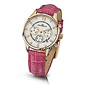Kennett Savro Ladies Leather 24 hour, Chronograph Watch LWSAVWHGOLPK