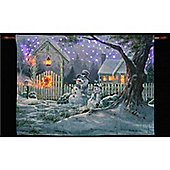 Michael Humphries Snowman Friends Illuminated Hanging Tapestry