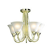 Traditional Gold Ceiling Lighting Fitting with Frosted Glass