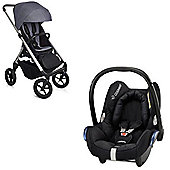 Easywalker Mosey/Maxi Cosi Travel System - Berlin Grey
