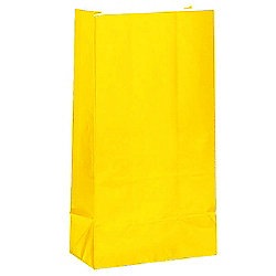 Yellow Party Bags - Paper 25cm