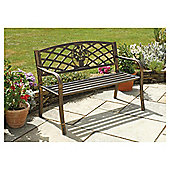 Garden Bench with Cast Iron Insert