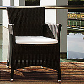 Varaschin Kresos Armchair by Varaschin R and D (Set of 2) - Dark Brown - Panama Castoro