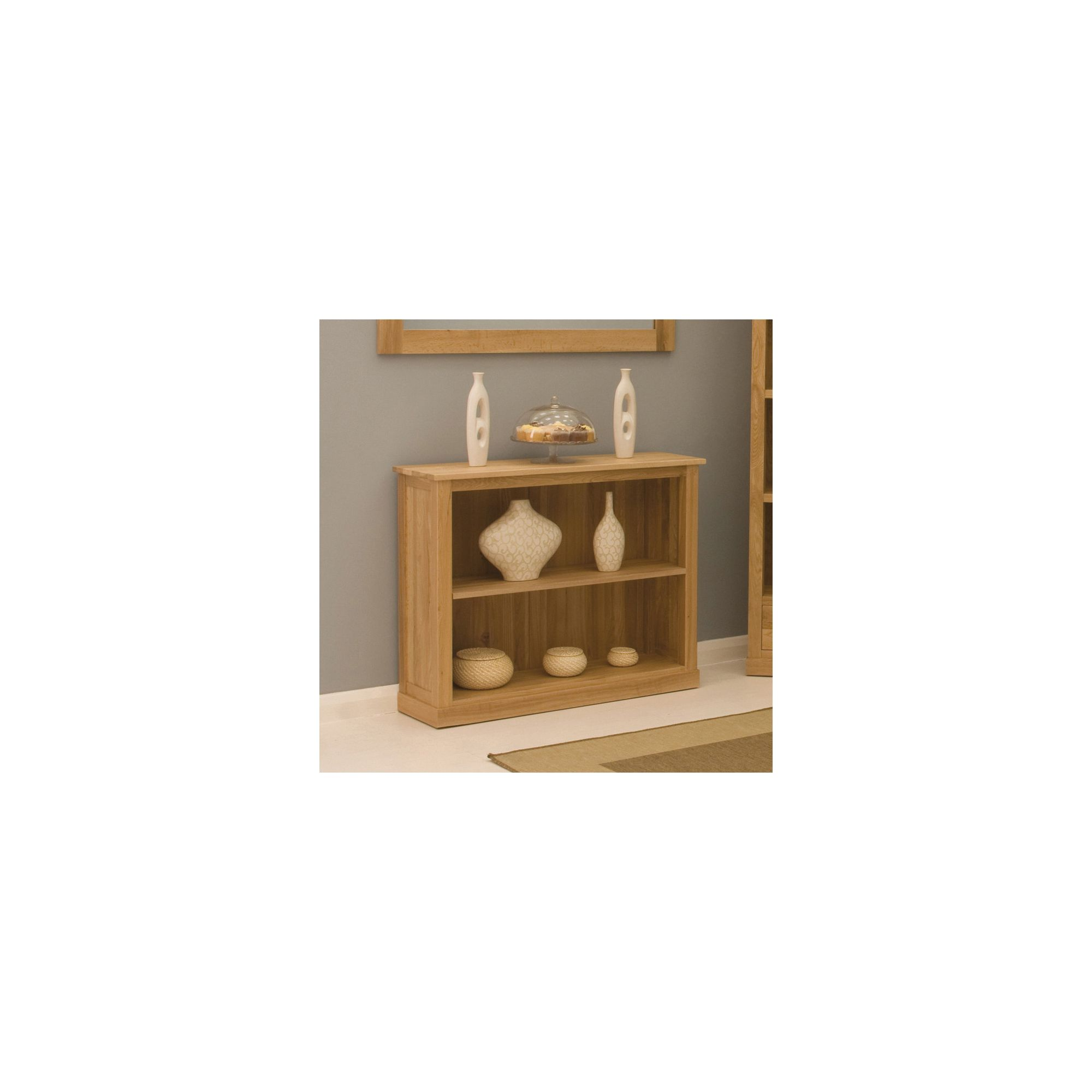 Baumhaus Mobel Oak Low Bookcase at Tesco Direct