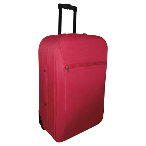 Tesco 2-Wheel Suitcase, Red Medium