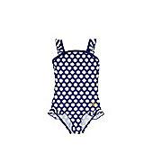 Zoggs Daisy Print Swimsuit - Navy & Yellow