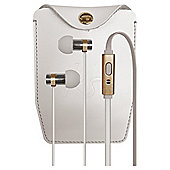 Kitsound Nova In Ear Headphones White and Gold