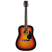 Martin Smith Full Size Dreadnought Acoustic Guitar - Sunburst