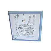 Christening Crib Card - Boy