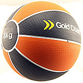 Gold Coast 8kg Heavy Duty Rubber Medicine Ball - For Weights Training Exercise Fitness MMA Boxing