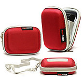 Red Water Resistant Hard Digital Camera Case Cover
