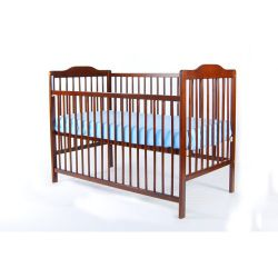 V&M Silvia Cot in Walnut, Natural Wood or White - Natural Wood