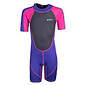 Kids Shorty Wetsuit - Pink