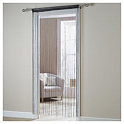 Plain String Curtain 90x200cm - Black