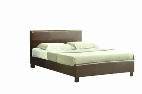 Home Zone Perna Bed Frame in Brown - Double