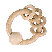 Heimess 730800 Wooden Ring Rattle (4 Natural Rings)