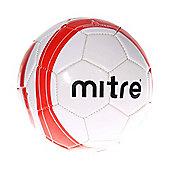 MITRE Ace Mini Football Soccer Ball, White / Red