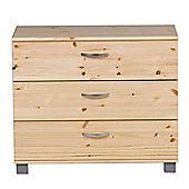 Thuka Trendy Three Drawer Chest - Natural Lacquer - Blue