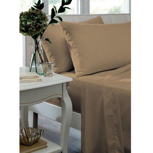 Catherine Lansfield Home Housewife Pillowcases - Caramel