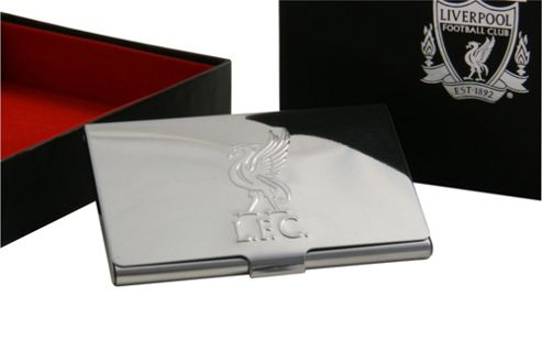 Liverpool FC Business Card Holder - Chrome