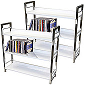 Brooklyn - 3 Tier Shelf Storage Unit / Bookcase - Pack Of Two - White