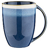 Tesco Blue Lagoon Crackle Porcelain Mug