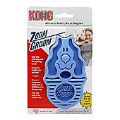 Kong Zoom Groom Dog Brush - Hard Bristle (Blue)
