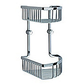 Smedbo Loft Two Level Soap Basket - Polished Chrome