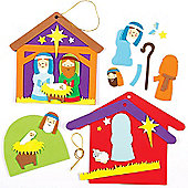 Nativity Scene 3D Decorations (Pack of 2)