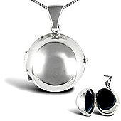 Jewelco London Sterling Silver spherical ball Locket Pendant - 18 inch Chain