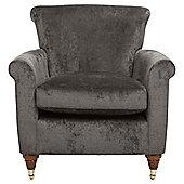 Pemberley Armchair Velvet Pewter