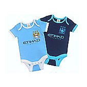 Manchester City Baby 2 Pack Bodysuits - 2015/16 - Blue