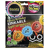 Illoom 10 Pack Happy Birthday Linkable Balloons