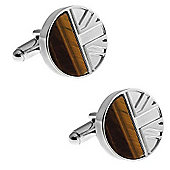 Tiger Eye Union Jack Cufflinks