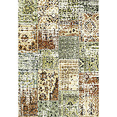 Mastercraft Rugs Woodstock Green Brown Patchwork Rug - 200cm x 290cm