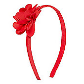 B Young Girls Red Corsage Alice Band