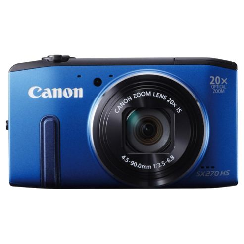 Canon Powershot SX270 Digital Camera, Blue, 12.1MP, 20x Optical Zoom, 3
