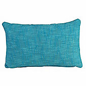 Homescapes Nirvana Cotton Teal Scatter Cushion, 30 x 50 cm