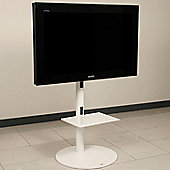 OMB Pedestal 1 TV Stand - Glossy White